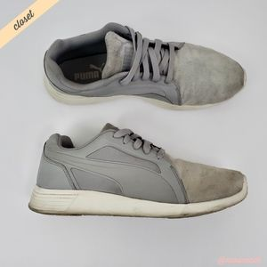 [Puma] Men's Gray Suede St Trainer Evo SD Sneakers
